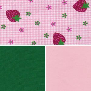 Strawberry Print Fabric Collection - 100% Cotton | Fruit Print Fabric