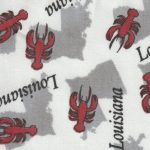 Louisiana Crawfish Fabric