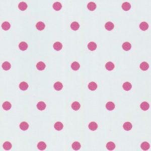 Geranium Pink Polka Dot Fabric