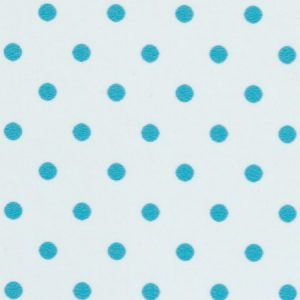 Turquoise Polka Dot Fabric