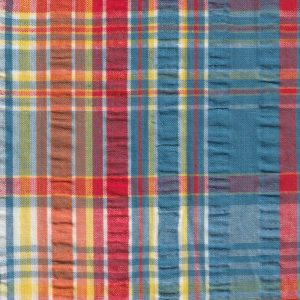 Plaid Seersucker Fabric