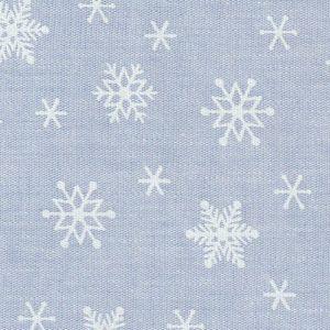 Snowflake Print Fabric