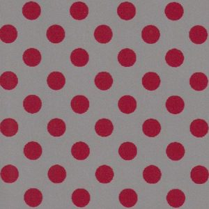 Red and Grey Polka Dot Fabric | Wholesale Polka Dot Fabric