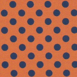 Navy and Orange Polka Dot Fabric | Wholesale Polka Dot Fabric