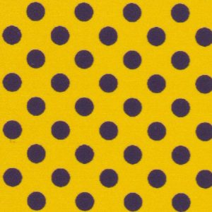 Purple & Gold Polka Dot Fabric | Wholesale Polka Dot Fabric