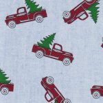 Red Truck With Christmas Tree Fabric | Christmas Fabric Wholesale
