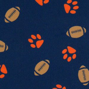 Paw and Football Print Fabric