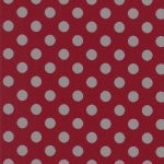 Grey and Red Polka Dot Fabric