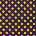 Purple and Gold Polka Dot Fabric | Wholesale Polka Dot Fabric