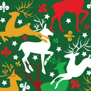 Reindeer Fabric - Print #2279 | Reindeer Christmas Fabric