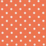 Orange and White Polka Dot Fabric | Wholesale Polka Dot Fabric
