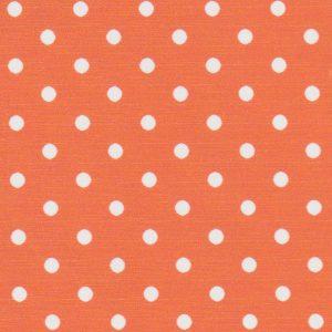 Orange and White Polka Dot Fabric | Wholesale Polka Dot Fabric