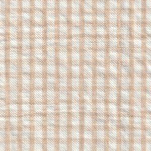 Tan Seersucker Fabric: British Tan | Seersucker Fabric Wholesale