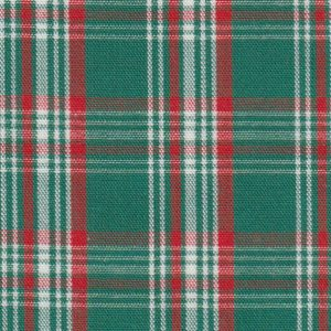 Red, Green and White Plaid Fabric - 100% Cotton | Wholesale Plaid Fabric