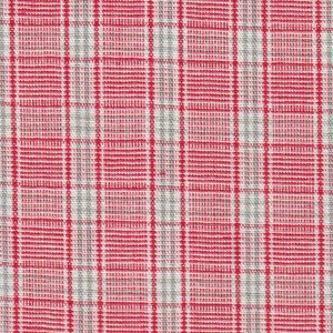 Red and Grey Plaid Fabric - 100% Cotton | Wholesale Plaid Fabric