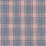 Orange and Navy Plaid Fabric - 100% Cotton | Wholesale Plaid Fabric