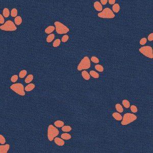 Navy Paw Print Fabric: Print #1577 | Paw Print Fabric Wholesale