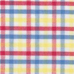 Red, Blue, and Yellow Check Fabric - #T113 | Tattersall Check Fabric