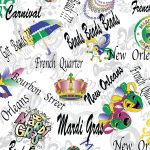 Mardi Gras Fabric: Masks, Crowns, Mardi Gras, Beads | Cajun Fabric