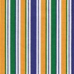 Mardi Gras Stripe Fabric: Purple, Kelly & Gold | Mardi Gras Fabric