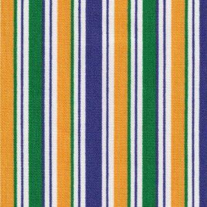 Mardi Gras Stripe Fabric: Purple, Kelly & Gold | Mardi Gras Fabric