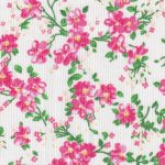 Pink and Green Floral Fabric