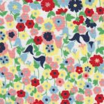 Floral Fabric: Pink, Red, Yellow, Blue and Green | Floral Fabric Wholesale