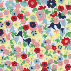 Floral Fabric: Pink, Red, Yellow, Blue and Green – Print #2303