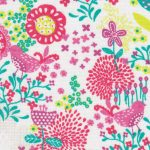 Multi Color Floral Fabric: Pink, Yellow and Green | Floral Fabric Wholesale