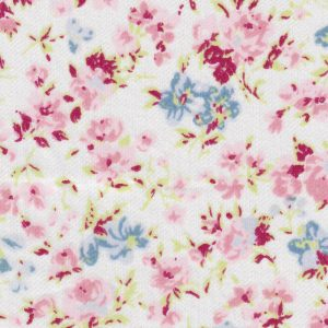 Floral Lawn Fabric: Pink, Green and Blue | Wholesale Lawn Fabric