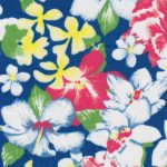 Floral Lawn Fabric: Pink, Green, Yellow & Blue | Lawn Fabric Wholesale