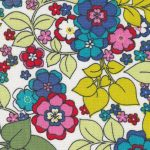 Floral Lawn Fabric: Pink, Green, Yellow and Blue | Wholesale Lawn Fabric