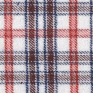 Orange, Brown, and Blue Plaid Flannel Fabric | Wholesale Flannel Fabric