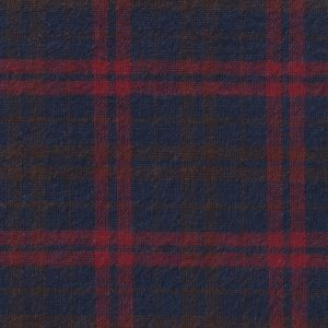 Blue and Red Plaid Flannel Fabric | Wholesale Flannel Fabric