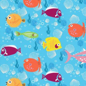 Fish Print Fabric - Print 2292: 100% Cotton | Sea Life Fabric