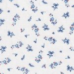 Red and Blue Floral Fabric: 100% Cotton | Floral Fabric Wholesale