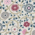 Tan Floral Fabric: 100% Cotton | Floral Fabric Wholesale