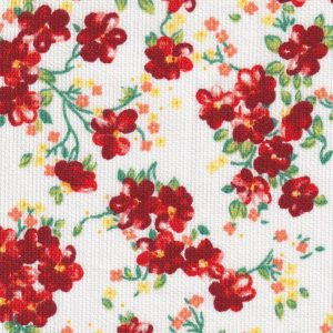 Red and Green Floral Fabric