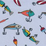 Fishing Lure Fabric: Print 2296 | Fishing Themed Fabric