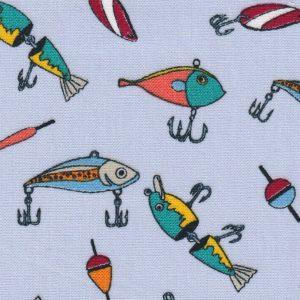 Fishing Lure Fabric: Print 2296 | Fishing Themed Fabric