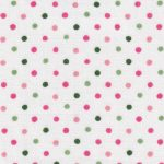 Pink and Green Polka Dot Fabric | Polka Dot Fabric Wholesale