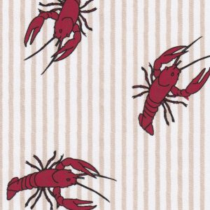 Crawfish Print Fabric - Printed Seersucker | Crawfish Fabric - 100% Cotton