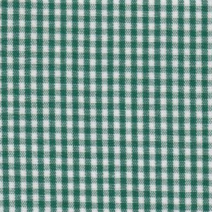 "Hunter Green Gingham Fabric - 1/16"" Check 