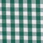 "Hunter Green Check Fabric - 1/4"" Width 