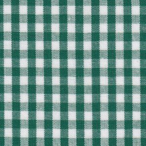 """Hunter Green Check Fabric - 1/8"""" Width   Wholesale Gingham Fabric"""