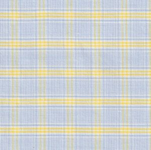 Yellow and Blue Plaid Fabric