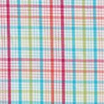 Multicolor Plaid Fabric: Red, Orange, Turquoise | Wholesale Plaid Fabric