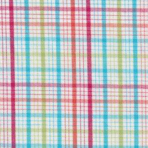 Multicolor Plaid Fabric: Red, Orange, Turquoise | Wholesale Plaid Fabric