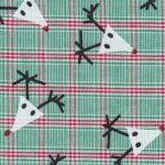Reindeer Fabric: Red & Green Plaid Fabric | Christmas Fabric Wholesale
