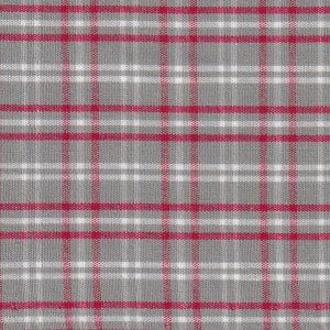 Red and Gray Plaid Fabric | Wholesale Plaid Fabric